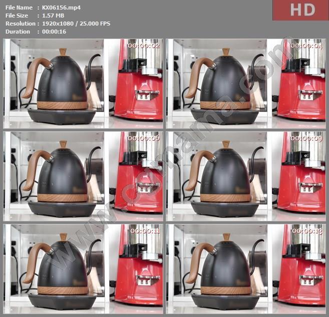 KX06156手冲咖啡烧水高清实拍视频素材
